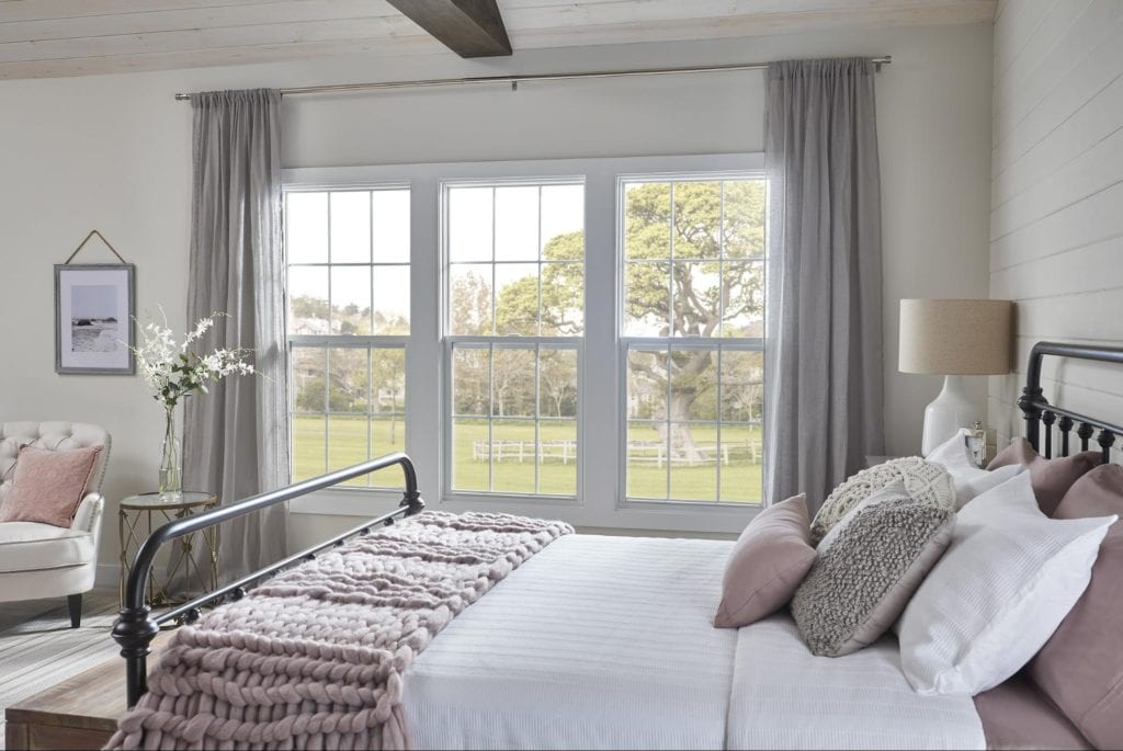 Paradigm's double-hung window overlooking gorgeous countryside pastures