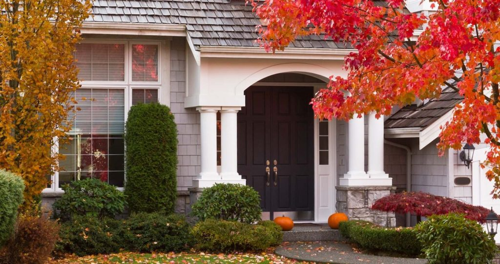 Exterior of Home in Autumn